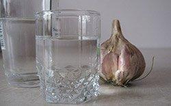 Водка с чесноком